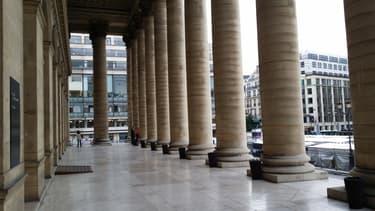 Vue du Palais Brongnart, où se tenait la Bourse de Paris