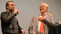 Jean Dujardin et Jean-Paul Belmondo en 2012 à Bruxelles.