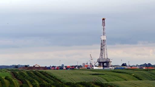 Exploitation de gaz de schiste pour la compagnie pétrolière Chevron dans le village de Ksiezomierz, en Pologne, en 2013.