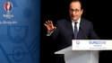 François Hollande le 30 mai 2015 à l'occasion d'une conférence de presse sur l'Euro 2016.