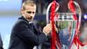 Ceferin, le président de l'UEFA, avec la Ligue des champions