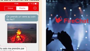 Présentation de l'application FireChat sur l'AppStore.
