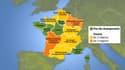 La nouvelle carte des régions a été adoptée par le Parlement.