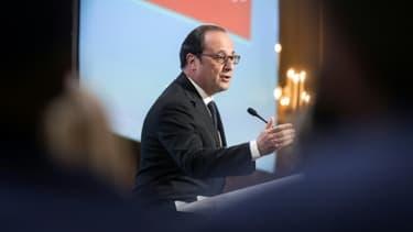 Le président François Hollande à l'Élysée le 4 avril 2017