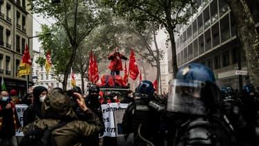 Environ 3000 personnes ont manifesté à Lyon ce samedi pour le 1er-Mai.