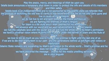 La page d'accueil du réseau social pro-Etat islamique.