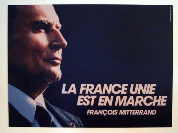 L'une des affiches de la campagne présidentielle de François Mitterrand en 1988