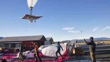Les équipes de Google ont testé, à Tekapo en Nouvelle-Zélande, des ballons géants permettant de recevoir Internet depuis la stratosphère.