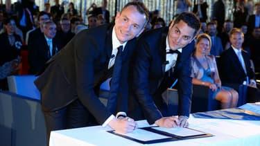 """Vincent Autin et Bruno Boileau, le premier couple homosexuel à avoir pu officiellement se dire """"oui"""" le 29 mai 2013 à Montpellier"""