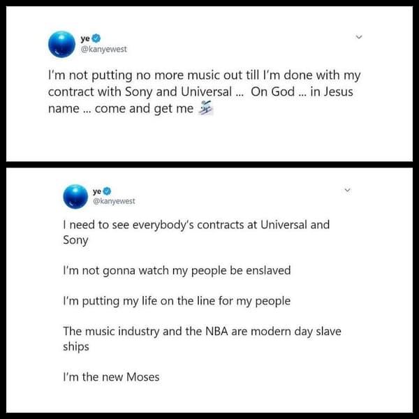 Des tweets de Kanye West