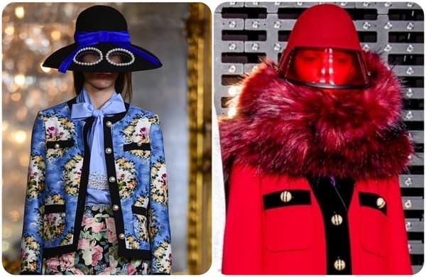Des chapeaux repérés sur les podiums de Vivetta et Gucci