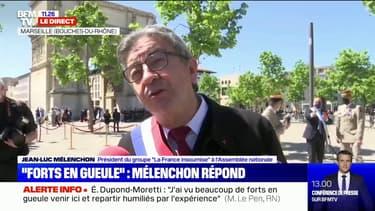"""""""C'est pauvre de dire que je suis fort en gueule"""": Jean-Luc Mélenchon répond à Marine Le Pen"""