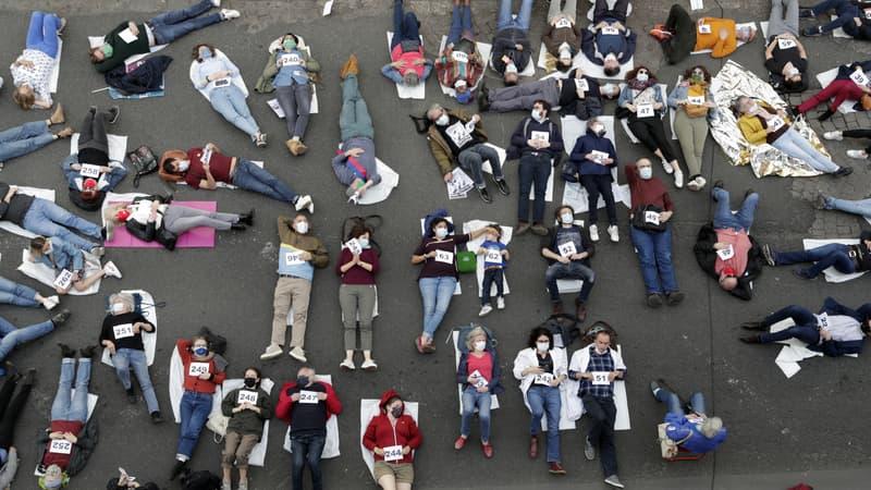 manifestation à Saint-Ouen contre le futur grand hôpital nord parisien