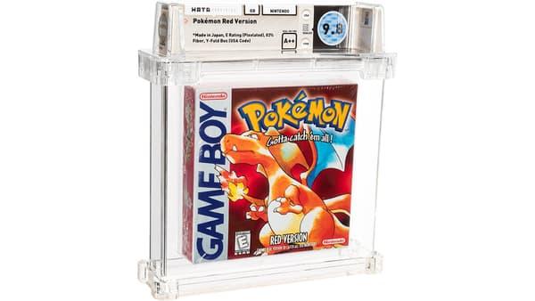 La cartouche du jeu Pokémon Rouge vendue par Heritage Auctions