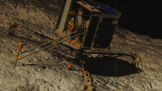 La première photo de Rosetta transmise par Philae, le 15 avril 2014.