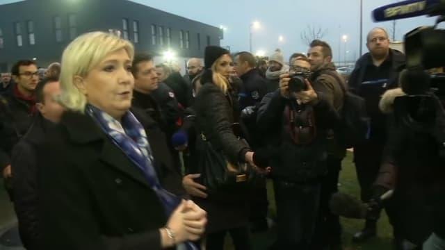 Marine Le Pen, à Vendin-le-Vieil