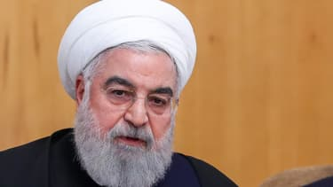 Le président iranien Hassan Rohani pendant une réunion à Téhéran, le 8 janvier 2020