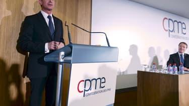 Manuel Valls a présenté son projet aux représentants de la CPME.