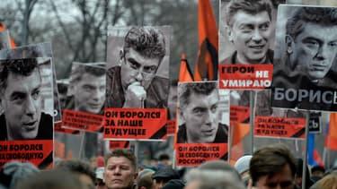 Marche en hommage à Boris Nemtsov à Moscou le 1er mars 2015