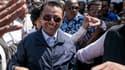L'ex-président de Madagascar Marc Ravalomanana accueilli par des supporters en rentrant à Antananarivo, le 13 octobre  2014.