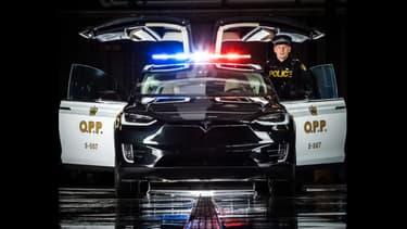 La police de la province de l'Ontario a dévoilé son Model X lors du salon de Toronto.