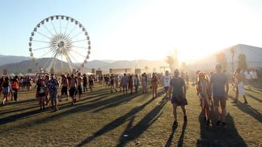 Des festivaliers à Coachella lors de l'édition 2016 (Photo d'illustration)