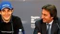 Bruno Senna (à gauche) et Adrian Campos (droite) en 2009