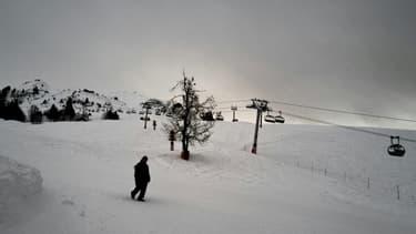 A la station de ski du Grand Bornand en Haute-Savoie, le 21 janvier 2021