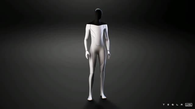 Le robot humanoïde présenté par Tesla lors de son AI Day du 19 août 2021.