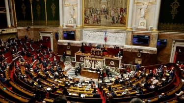 Vue générale de l'Assemblée nationale le 9 février 2021