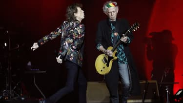 Mick Jagger et Keith Richards en octobre 2017