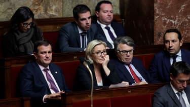 Les députés du FN à l'Assemblée nationale.