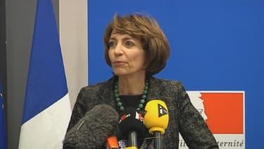 Marisol Touraine face à la presse, le 15 janvier 2016.