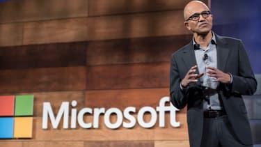 """""""L'opportunité dans le cloud pour les entreprises est massive"""" et """"plus grande qu'aucun marché auquel nous ayons jamais participé"""", a estimé Satya Nadella."""