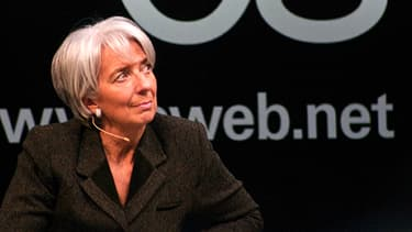 La directrice générale du Fonds monétaire international Christine Lagarde, lors d'une conférence du FMI en avril 2013.