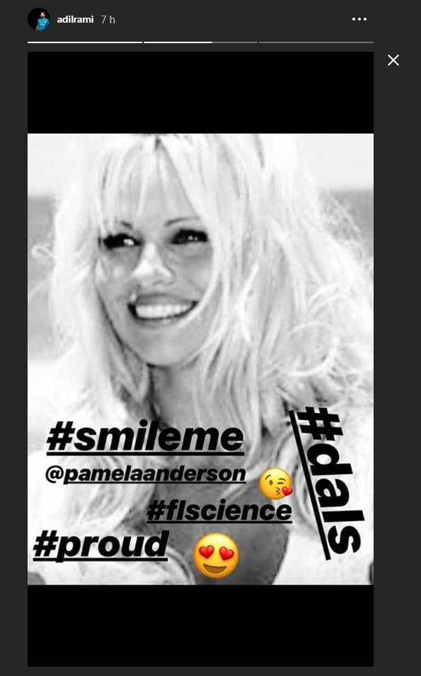 Le message de soutien d'Adil Rami à Pamela Anderson