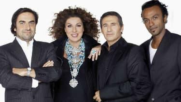 """André Manoukian, Marianne James, Dove Attia et Manu Katché formaient un jury emblématique de """"Nouvelle Star"""""""