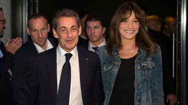 Nicolas Sarkozy et son épouse Carla Bruni à Toulon, le 21 octobre 2016