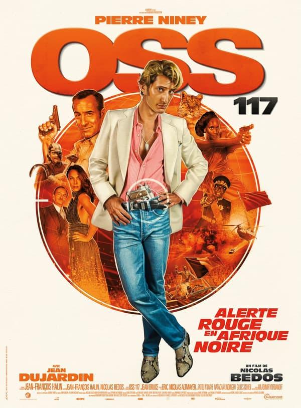 """Affiche de """"OSS 117 3: Alerte Rouge en Afrique Noire"""", avec Pierre Niney"""