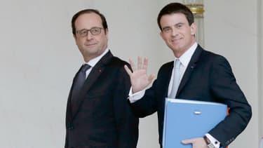 François Hollande et Manuel Valls, le 18 février 2015.