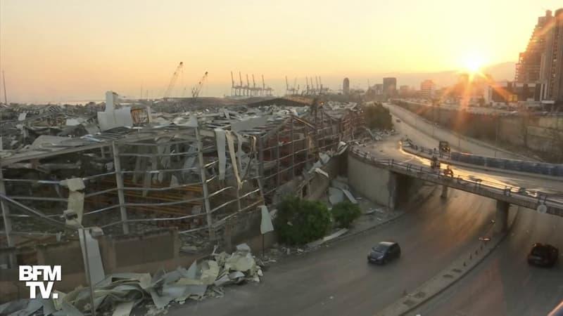 Les images du port de Beyrouth au lendemain des deux importantes explosions
