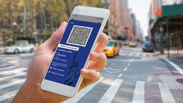 Le passeport sanitaire numérique de la ville de New York (PHOTO D'ILLUSTRATION)