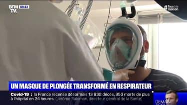 Coronavirus: des masques de plongée transformés en respirateurs dans un hôpital d'Ajaccio