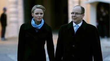 Le couple princier à Monaco, le 2 avril dernier.