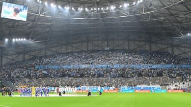 Le stade Vélodrome lors du match OM-Lorient