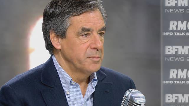 François Fillon sur le plateau de BFMTV le 12 novembre 2015