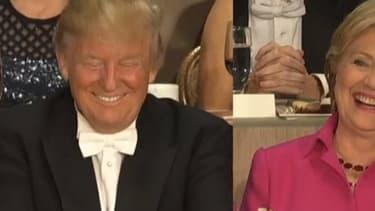 Trump est Clinton, visiblement de bonne humeur
