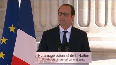 """François Hollande: """"70 ans après, ces haines reviennent"""""""