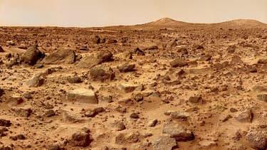 Photographie de la surface de Mars.
