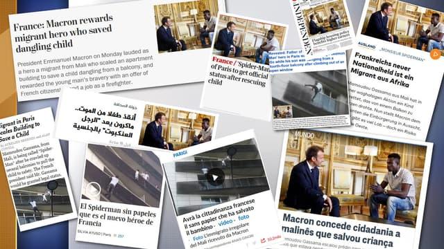 L'exploit de Mamoudou Gassama raconté dans la presse internationale.